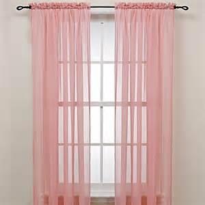 pink rod pocket sheer window curtain panel www
