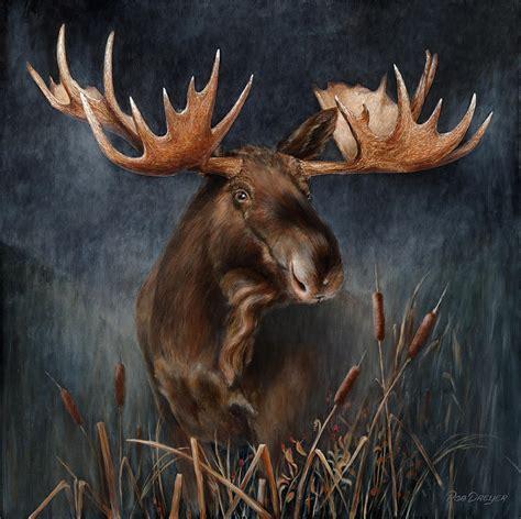moose   mist painting  rob dreyer afc