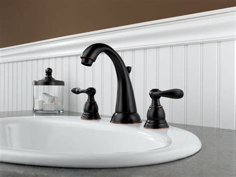 Delta Bronze Bathroom Faucets by Faucet B3596lf Ob In Rubbed Bronze By Delta