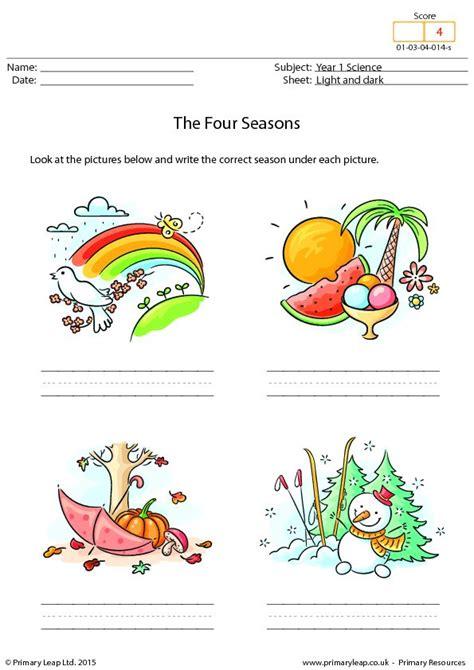 writing   seasons seasons worksheets