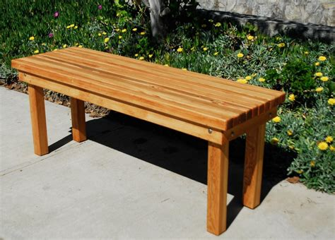 Outdoor Wood Patio Bench  Forever Redwood