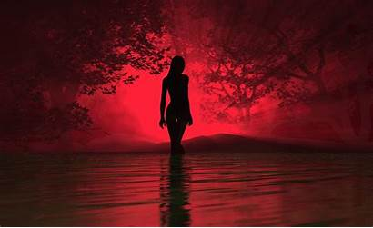 Silhouette Woman Wallpapers Aesthetic Dark Lady Looking
