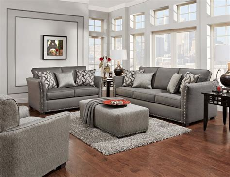 technique charcoal sofa  loveseat fabric living room