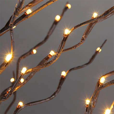 5ft height 200led light up brown branches tree light