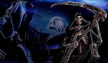 Reaper Grim Fire Wallpapers Wallpapersafari Code Teahub