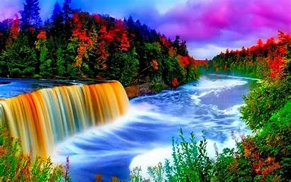 Colorful Waterfall Background Wallpapers13