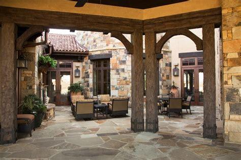 Tuscan Decorating Ideas For Patio by Tuscan Villa Mediterranean Porch Houston By Ellis