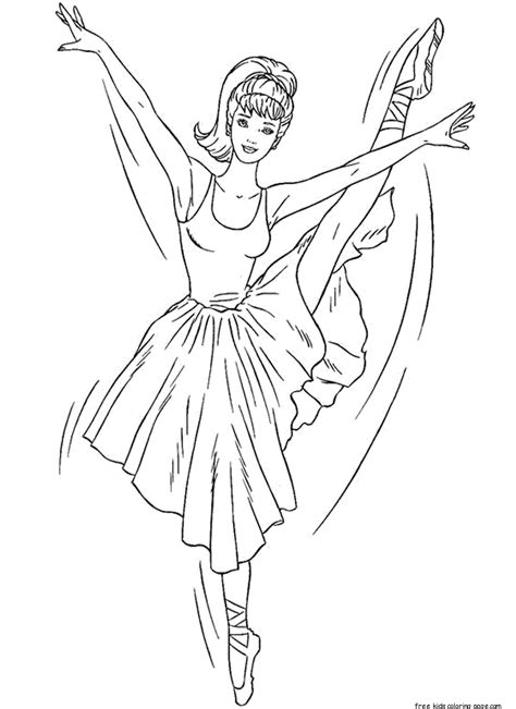 printable barbie ballerina coloring pages  girlsfree