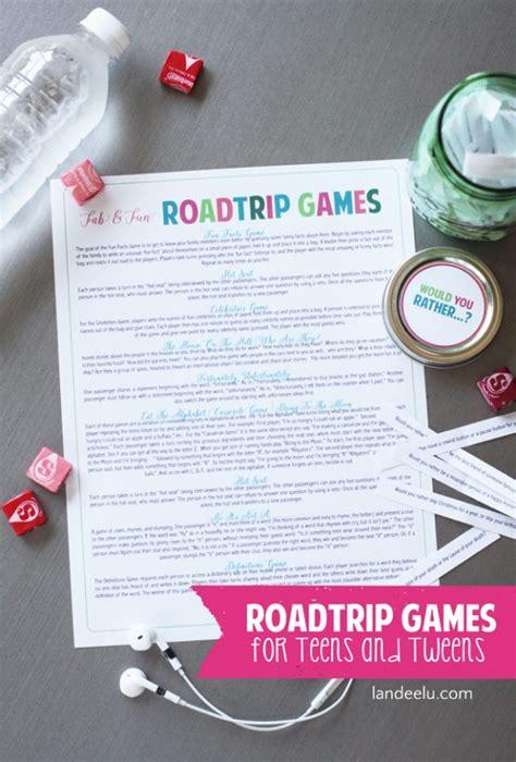 road trip games  teens tweens landeelucom