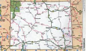 South Dakota Wyoming Montana-Idaho Maps Road