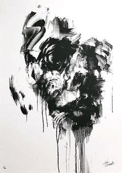 Abstract Black And White Portrait by Best Abstract Paintings Black And White Black And