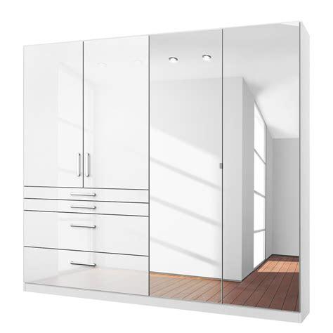 White Mirrored Wardrobe by High Gloss White Wardrobes