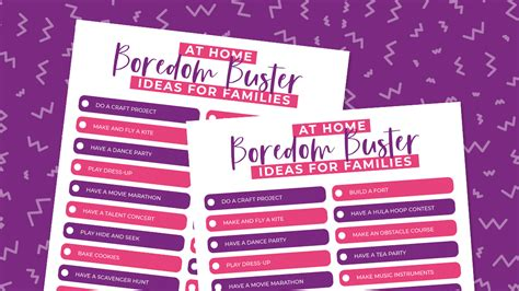 Free Printable At Home Boredom Busters for Families The