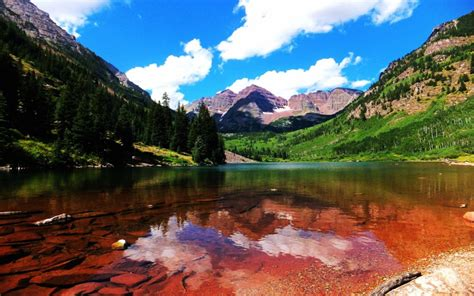 maroon bells  maroon lake gunnison county colorado