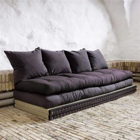 cdiscount canapé d angle convertible convertible futons chico grey tatamis 70 achat vente