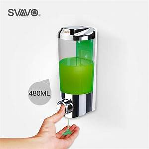 Svavo Wall Mounted Abs Hand Press Manual Liquid Soap