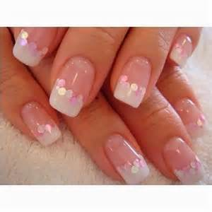 Pink and white gel nails fmag