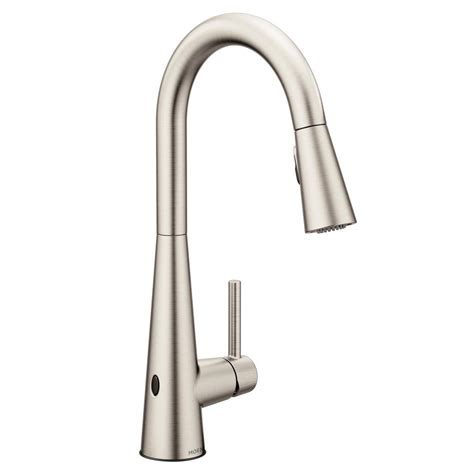 Moen Touchless Kitchen Faucet by Moen Sleek Touchless Single Handle Pull Sprayer