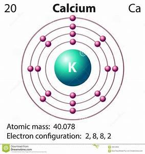 Diagram Representation Of The Element Clacium Stock Vector