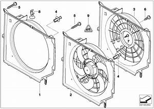 2000 Bmw 325ci Fan Shroud  Radiator  Cooling