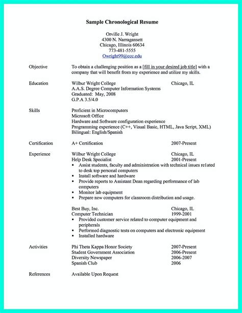 Chronological Resume Letter by Pin On Resume Sle Template And Format Chronological