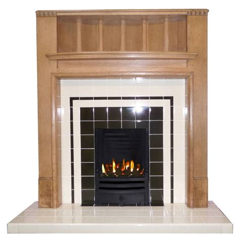buy  art deco style tiled fireplace insert
