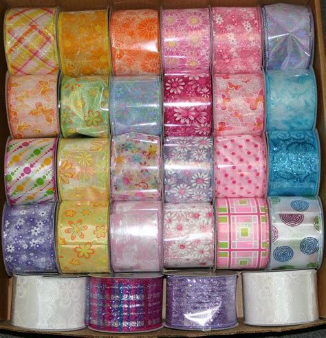 spring     yds wired ribbon  rolls mixed