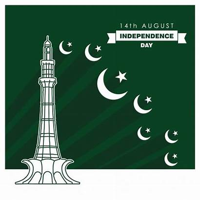 Pakistan Background Independence Vector Monument August Moons