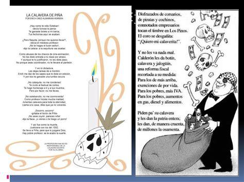 Calaveritas Literarias PowerPoint Presentation free