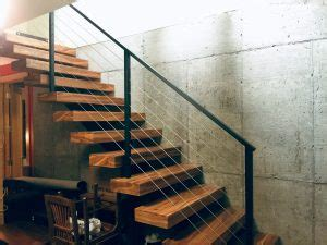 decorative iron stair railings floating stairs single stringer staircases in nyc ct