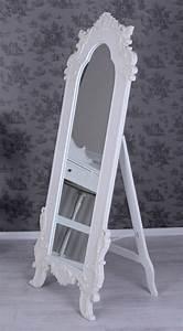 Standspiegel Antik Weiß : rokoko spiegel weiss standspiegel shabby chic ankleidespiegel antik ebay ~ Indierocktalk.com Haus und Dekorationen
