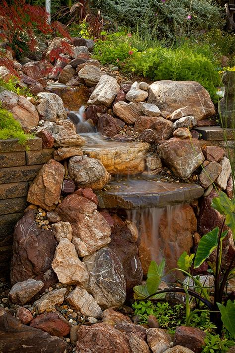 waterfall design ideas pondless waterfall design ideas unique garden water features