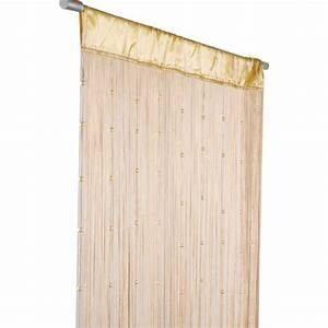 Fadenvorhang Mit Perlen : fadenvorhang t rvorhang insektenschutz perlen 90x250cm helena beige gardinen fertiggardinen ~ Orissabook.com Haus und Dekorationen