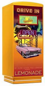 Kühlschrank Amerikanischer Stil : amerikanischer retro k hlschrank drive in der 50er jahre in gelbamerican diner m bel im retro ~ Orissabook.com Haus und Dekorationen
