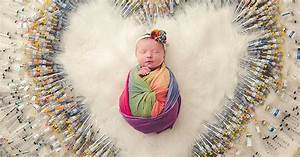 Photo Of Newborn Baby Surrounded By Ivf Syringes Goes