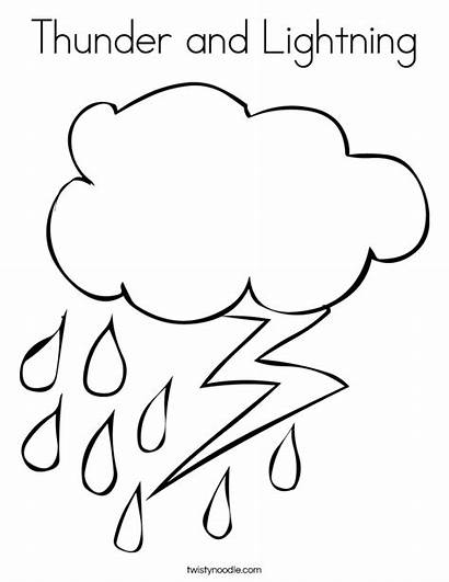 Thunder Lightning Coloring Rain Built California Usa