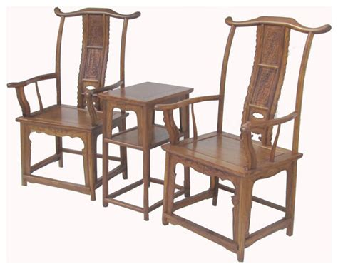 Pair Chinese Ming Style Huanghuali Yoke-back Arm Chair