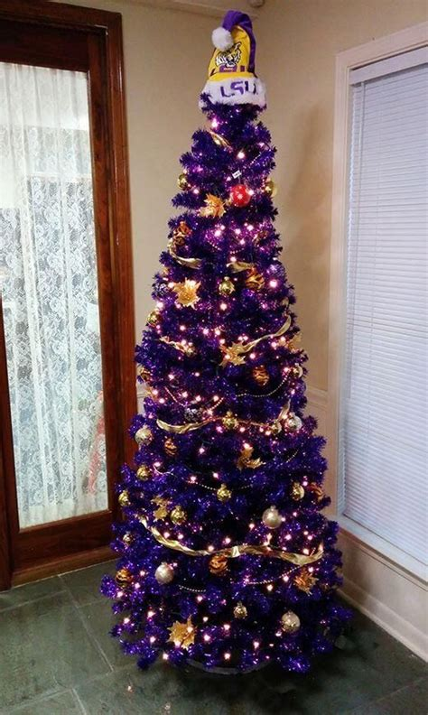 lsu christmas tree how adorable geaux tigers tis the
