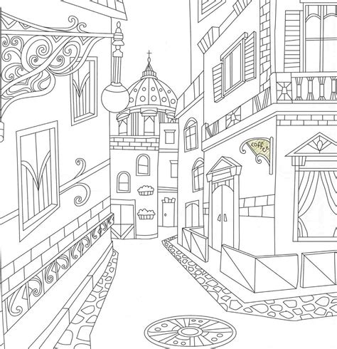 italy coloring travel coloringbook architecture