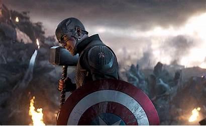 America Avengers Endgame Captain Marvel Thanos Fanart