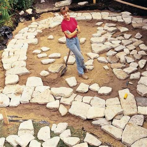 how to make a flagstone patio build a stone patio or brick patio