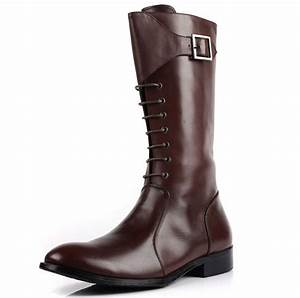 high-quality-fashion-2015-mens-knee-high-boots-Shine-black ...