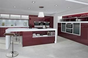 Cuisine équipée Ilot Central : modle de cuisine avec ilot central le comptoir en arrondi ~ Dailycaller-alerts.com Idées de Décoration
