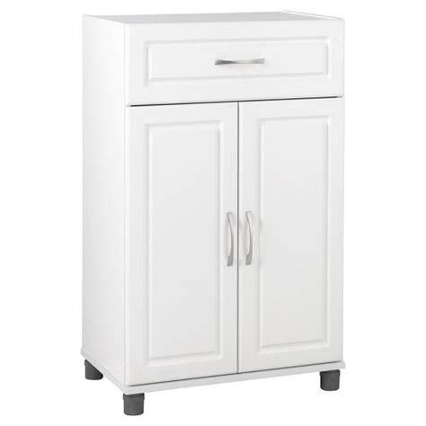 white 2 door storage cabinet kendall 24 quot 1 drawer 2 door base storage cabinet white