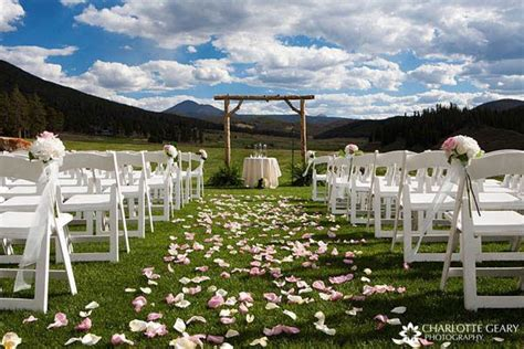 simple outdoor ceremony decorations wedding ideas