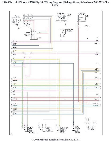 1994 Dodge Up Wiring Diagram by 1994 Chevrolet Up K3500 Wiring Diagrams Wiring