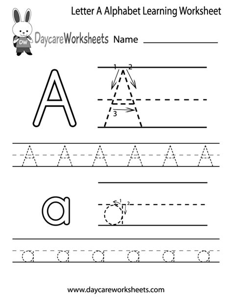 free online learning for preschoolers coloring pages free letter a alphabet learning worksheet 844
