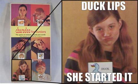 Meme Origin - duck lips origin duck face know your meme
