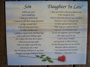 Quotes about daughters in law wedding pinterest poem for Letter to son and daughter in law on wedding day
