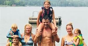 Josh Duhamel Poses Shirtless During Lake Day with Son ...